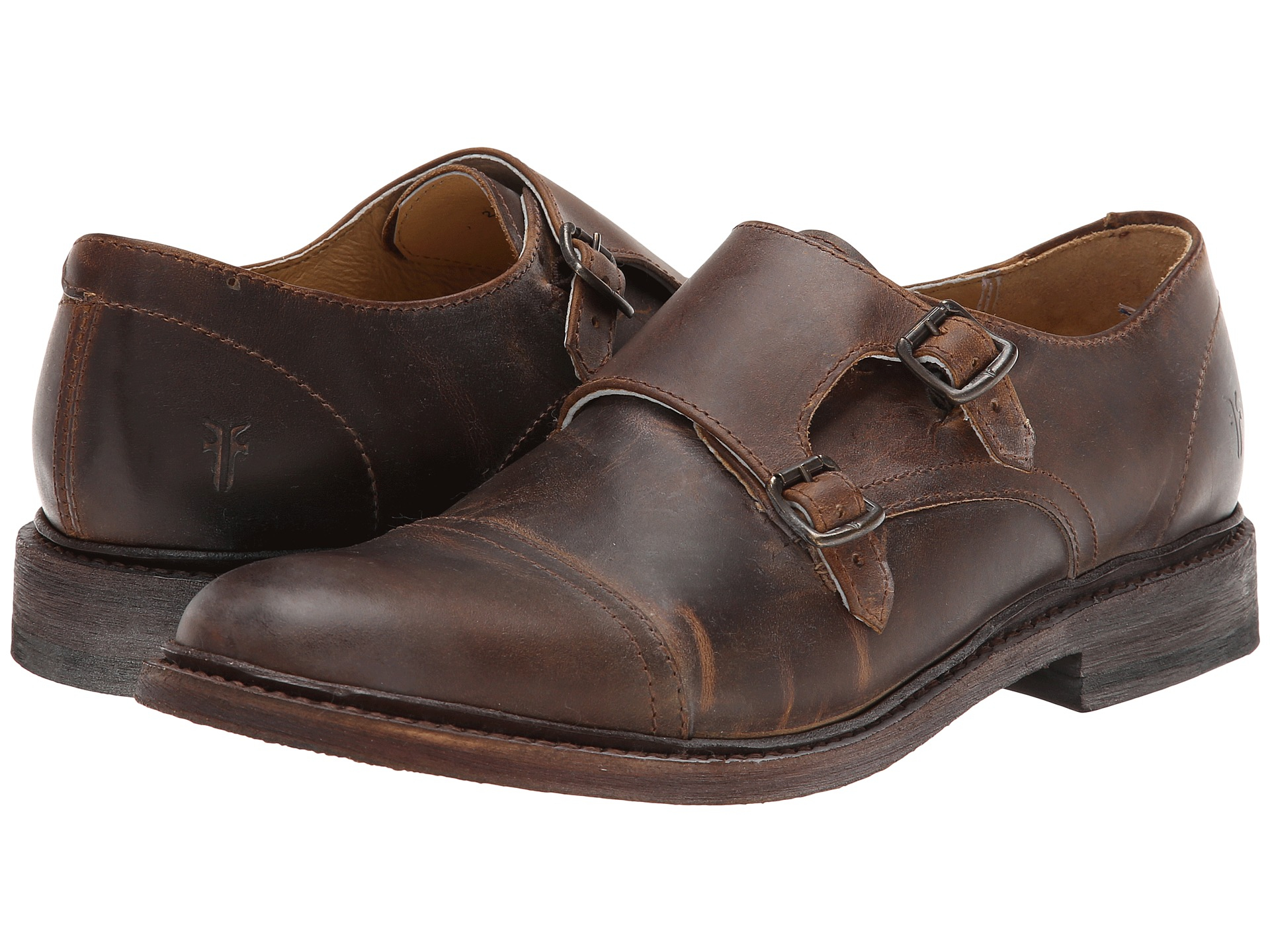 Leather Monk Shoes Women