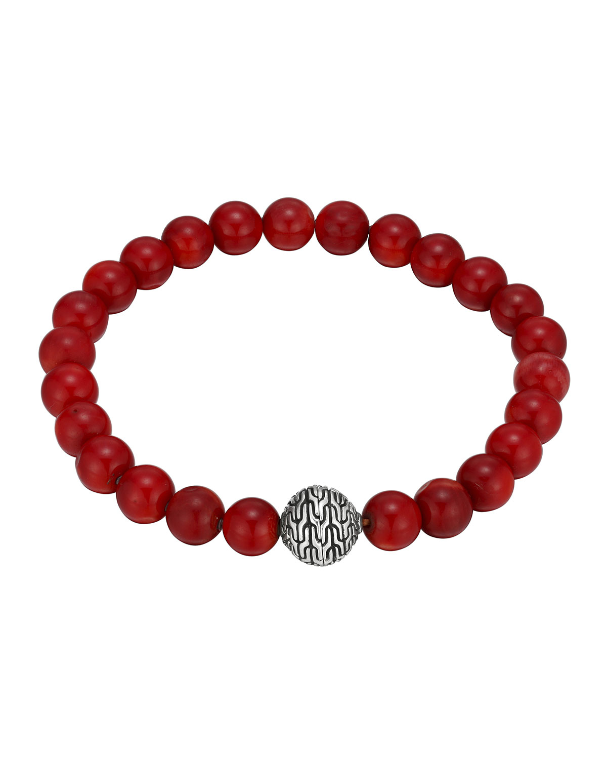 Lyst John Hardy Large Coral Beaded Bracelet With