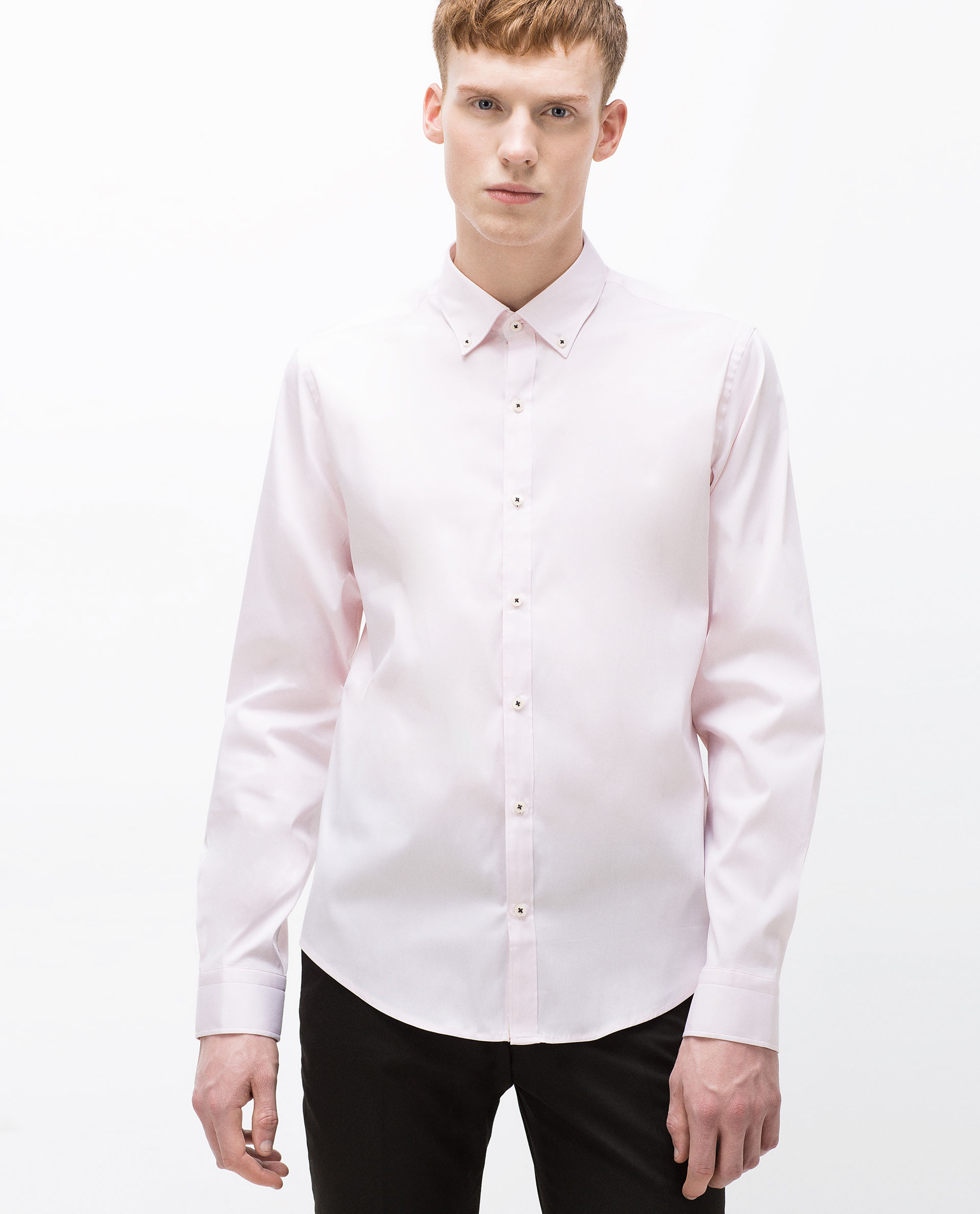 Zara Super Slim Fit Shirt In Pink For Men Lyst