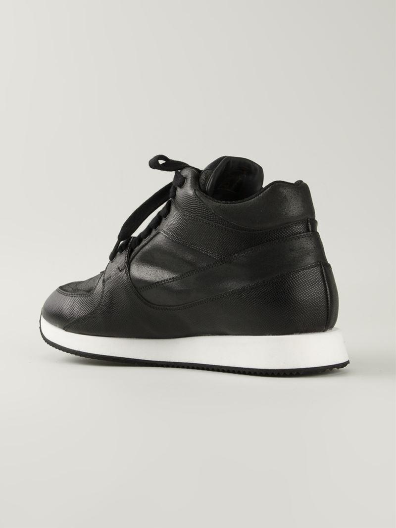 4dd7b34708a4c5 Lyst - Kris Van Assche High Running Sneakers in Black for Men