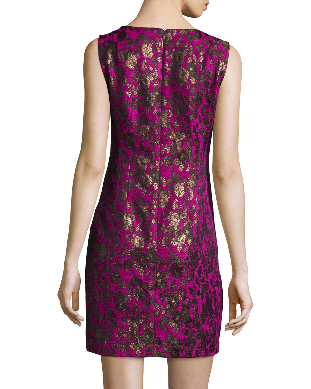 Nanette Lepore Sleeveless Floral Jacquard Sheath Dress In