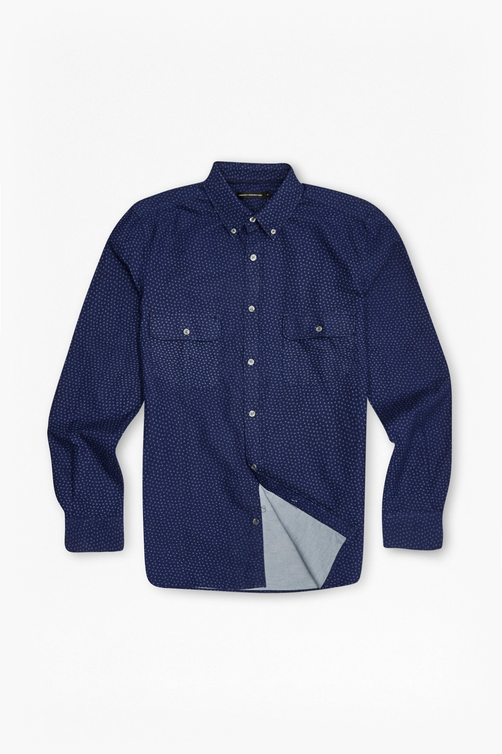 Lyst french connection on the road floral oxford shirt for French blue oxford shirt