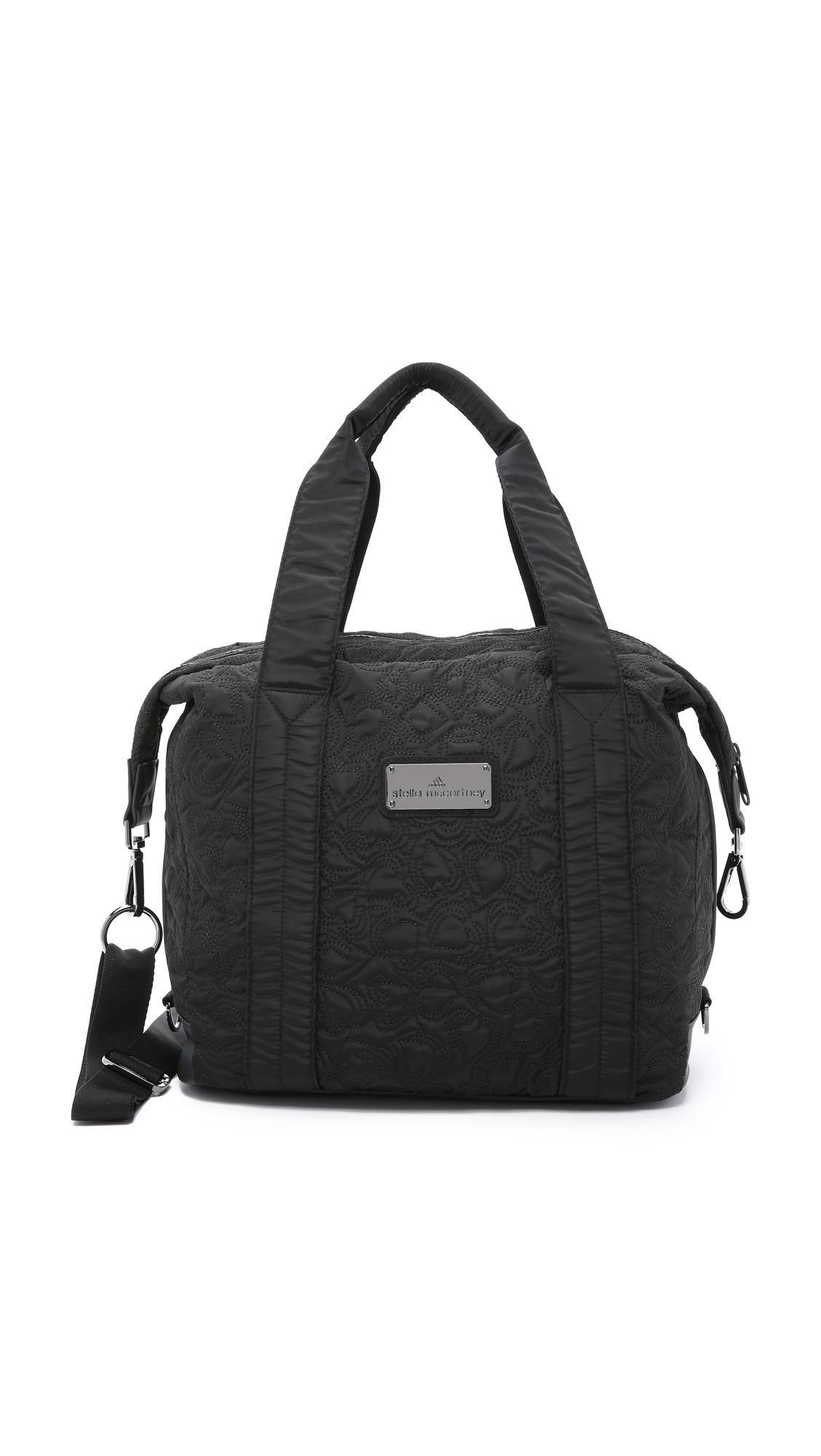 Lyst Adidas By Stella Mccartney Small Gym Bag Black In