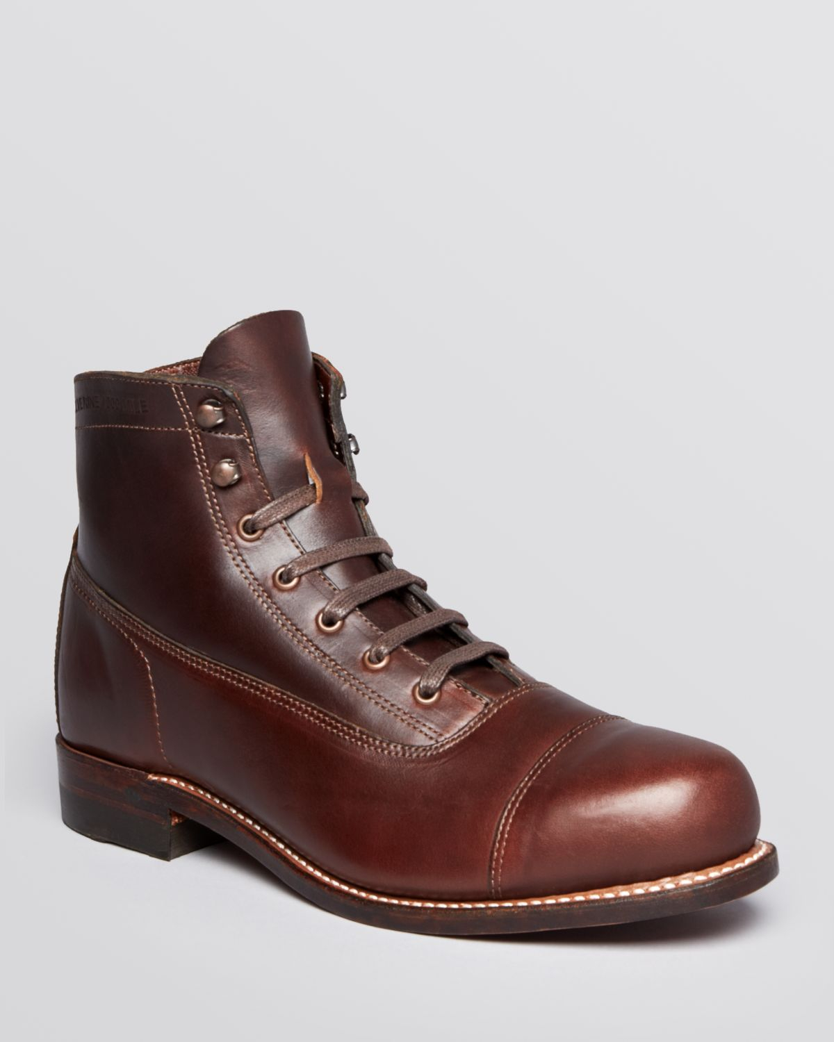 wolverine rockford cap toe boots in brown for lyst