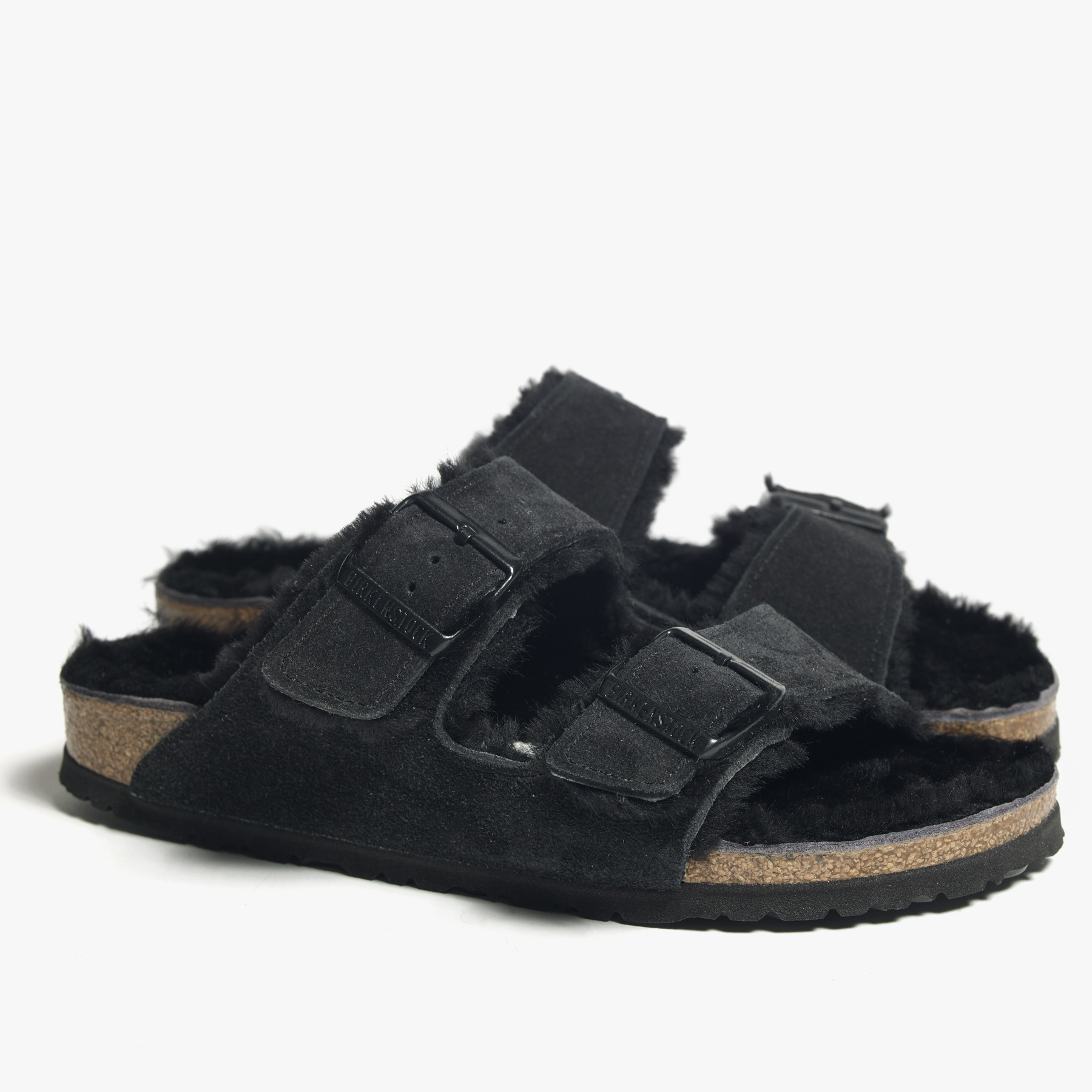 James Perse Birkenstock Arizona Shearling Sandal Womens