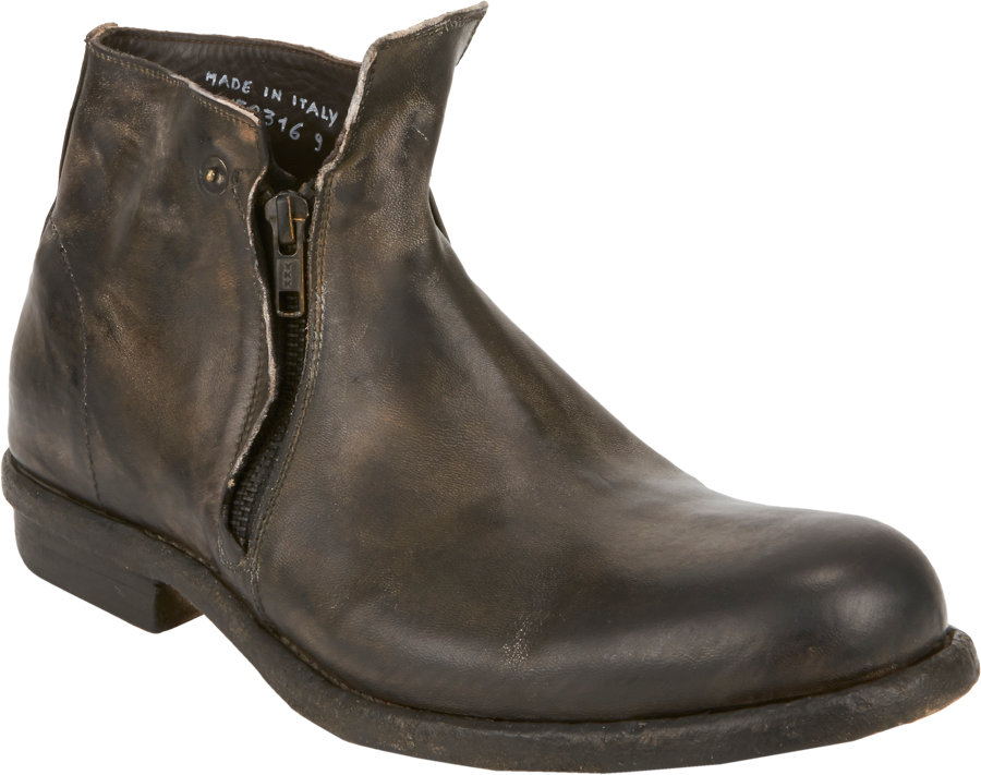 shoto doublezip chelsea boots in gray for grey lyst