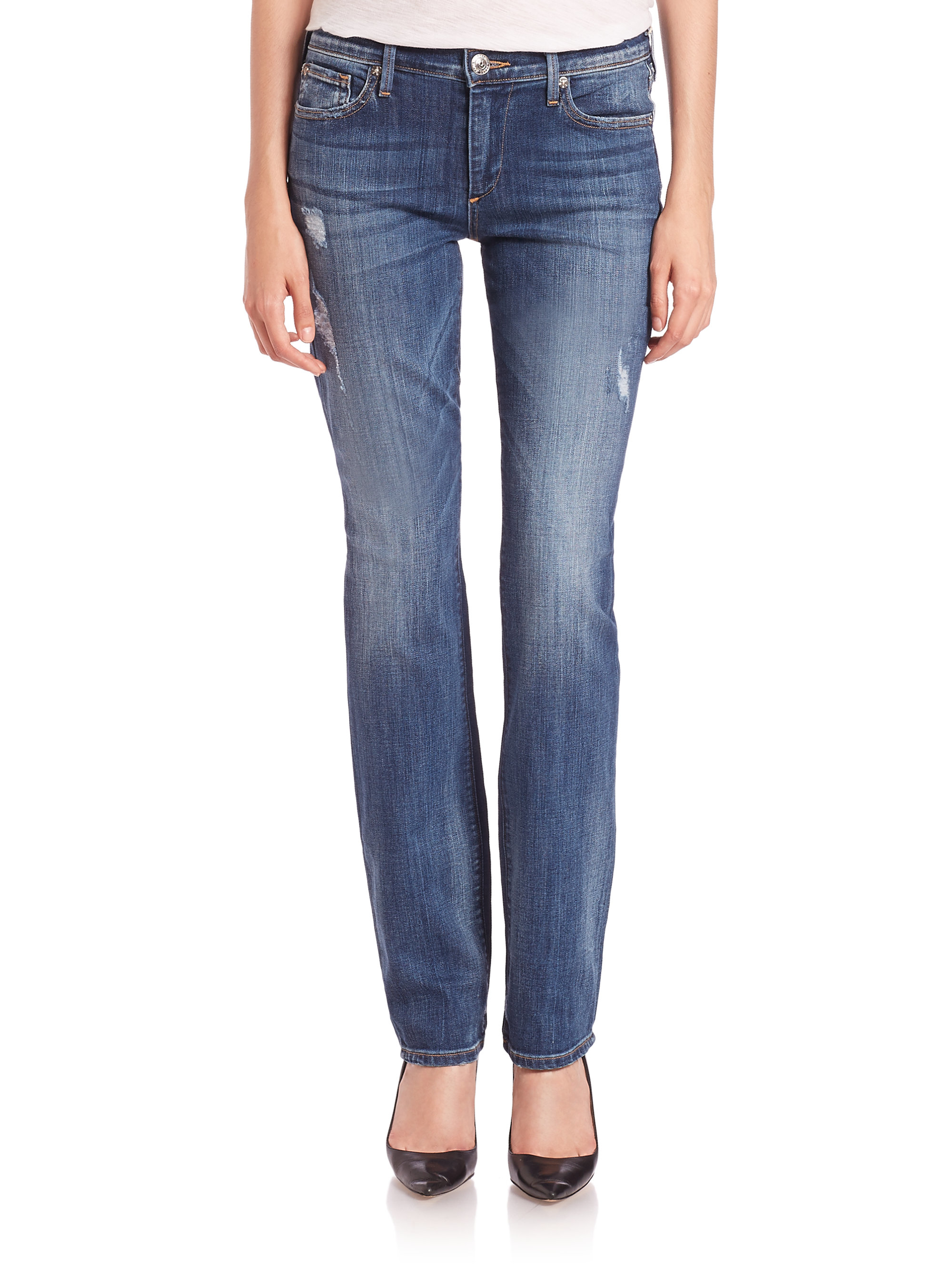 Burberry Prorsum Mid-Rise Straight-Leg Jeans Best Place Cheap Price Affordable For Sale Perfect UotVM