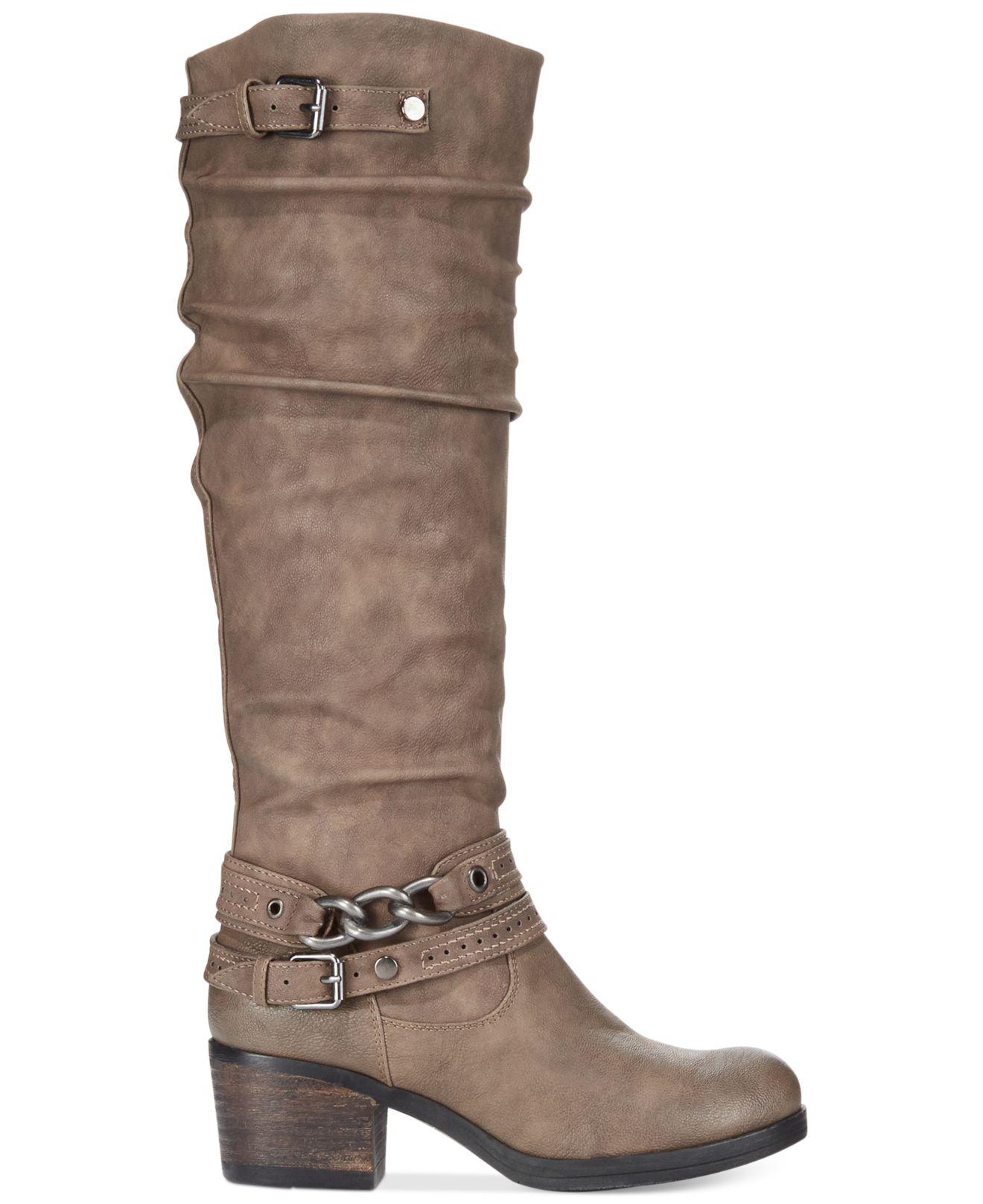 carlos by carlos santana wide calf boots in brown