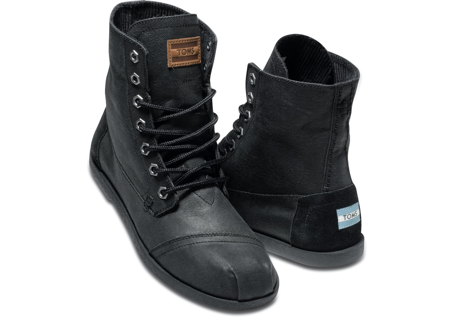 Toms Aviator Twill Mens Utility Boots in Black for Men | Lyst