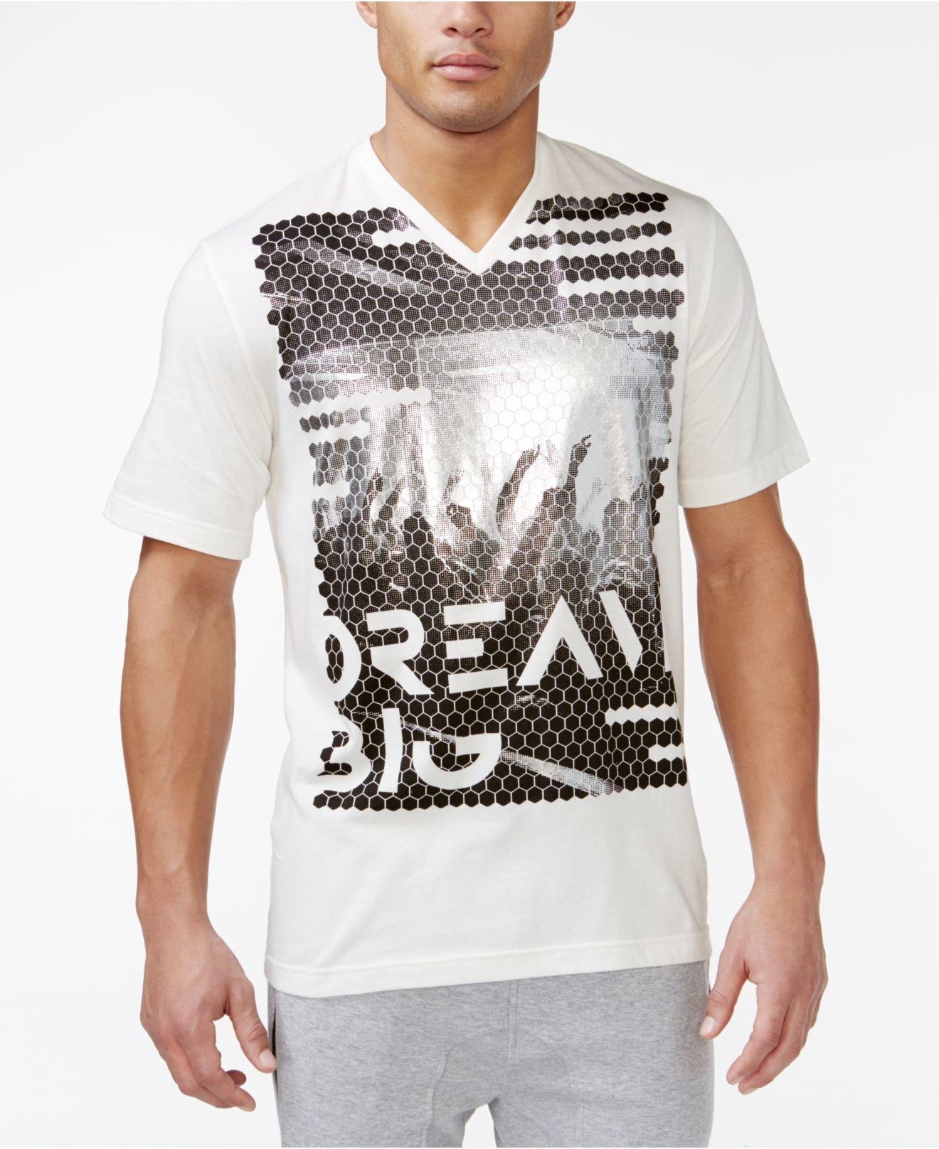 Sean john dream crowd t shirt in white for men lyst for Sean john t shirts for mens