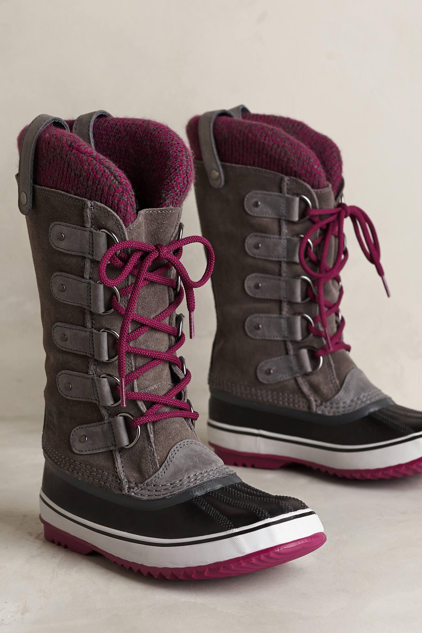 sorel joan of arctic knit boot in brown lyst. Black Bedroom Furniture Sets. Home Design Ideas