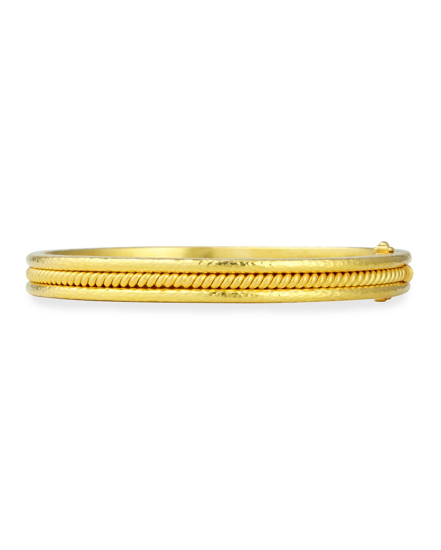 Elizabeth Locke 19k Gold Wire Bangle Bracelet ocWn4Ft
