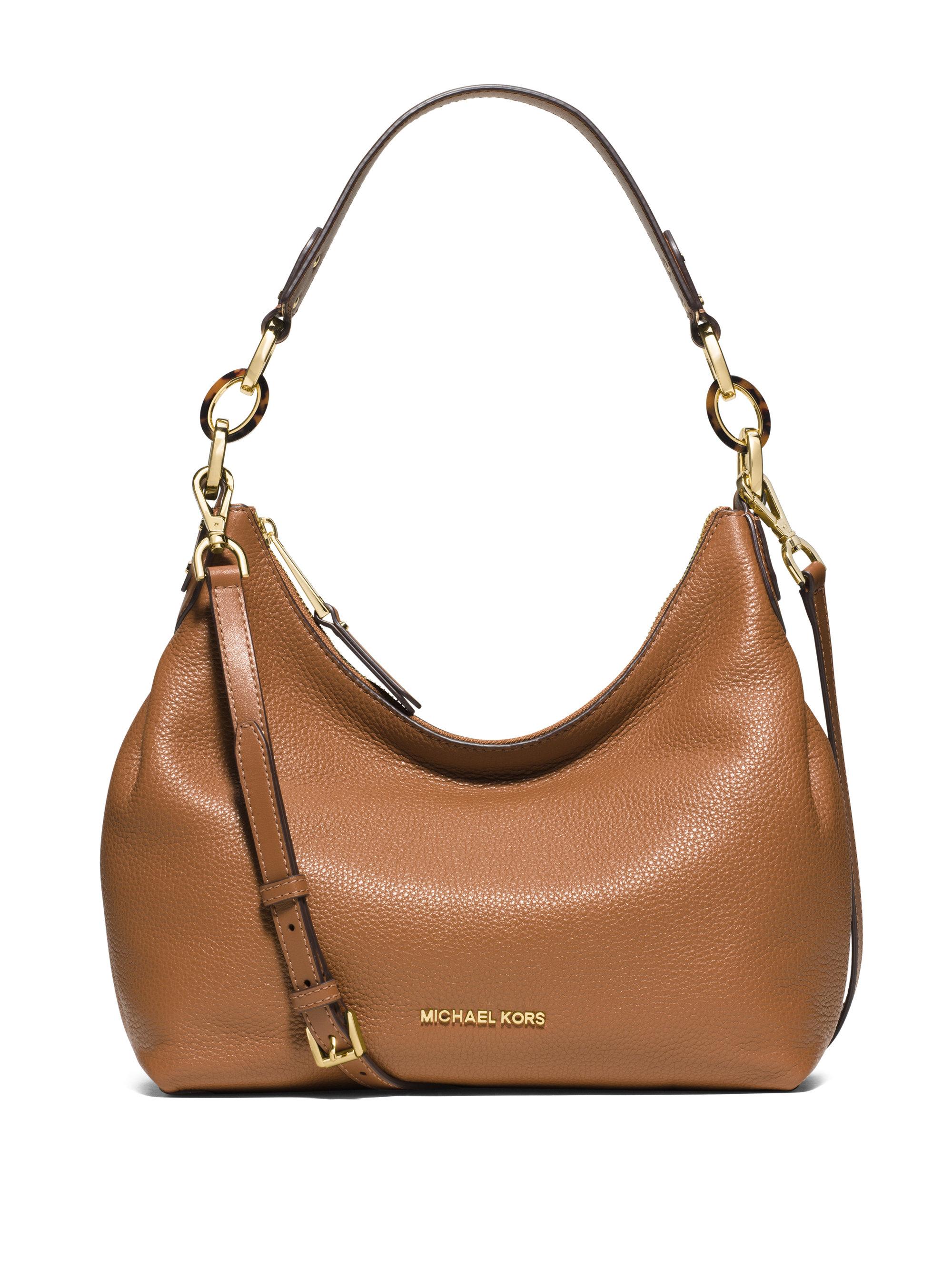 Michael michael kors Isabella Medium Pebbled Leather Hobo Bag in ...