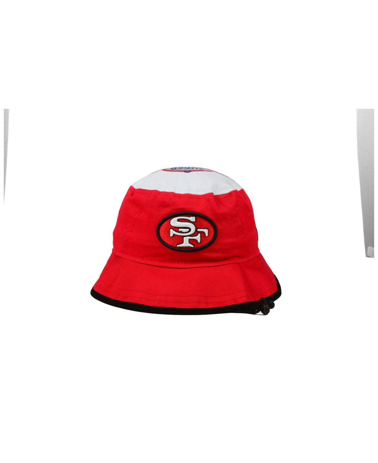 373fe6f3f95 Lyst - Ktz San Francisco 49ers Traveler Bucket Hat in Red for Men
