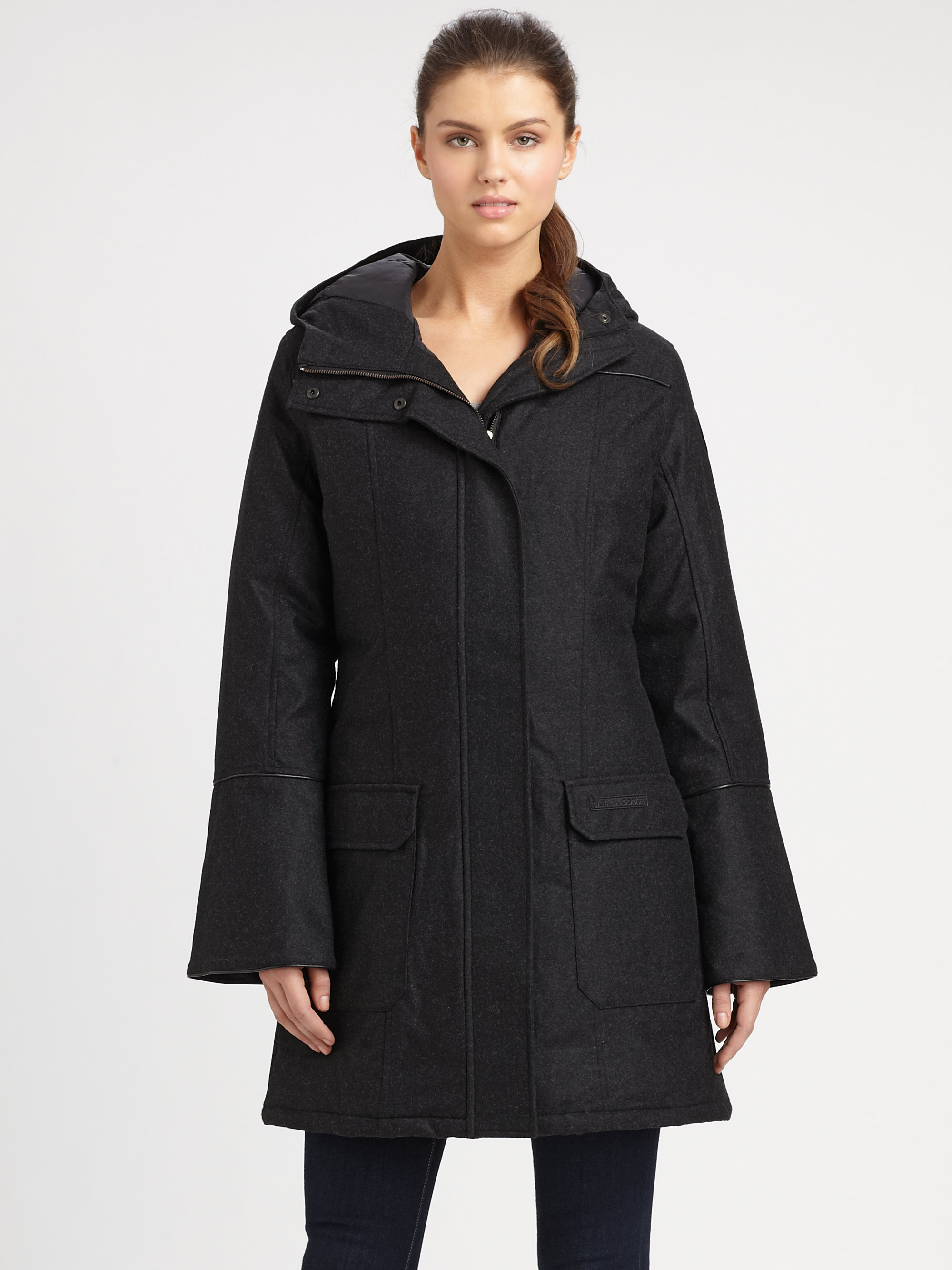 Canada Goose Wool Torino Coat In Black Lyst