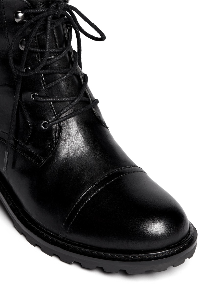 sam edelman niles leather boots in black lyst