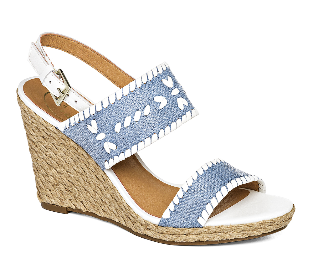 e3af71155a31 Jack Rogers Vanessa Wedge in Blue - Lyst