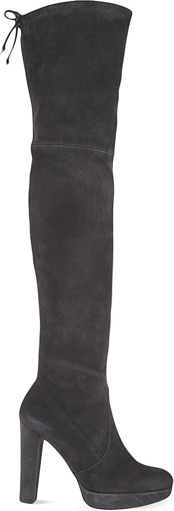 0008f95cd43b Stuart Weitzman Highland Knee-high Suede Boots - For Women in Gray ...