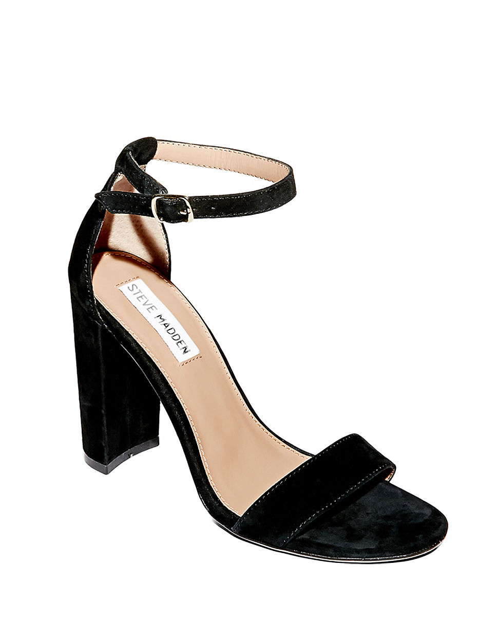 steve madden carrson suede sandals in black save 6 lyst