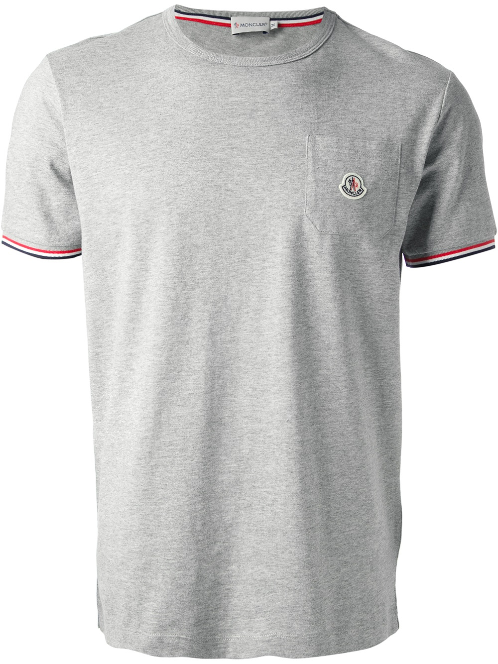 moncler classic t shirt in gray for men grey lyst. Black Bedroom Furniture Sets. Home Design Ideas