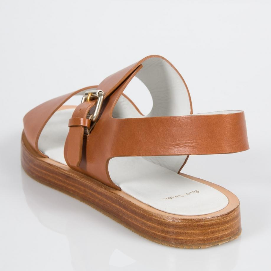 bdbfbd6fa9a584 Paul Smith Women s Tan Leather  ilse  Platform Sandals in Brown - Lyst