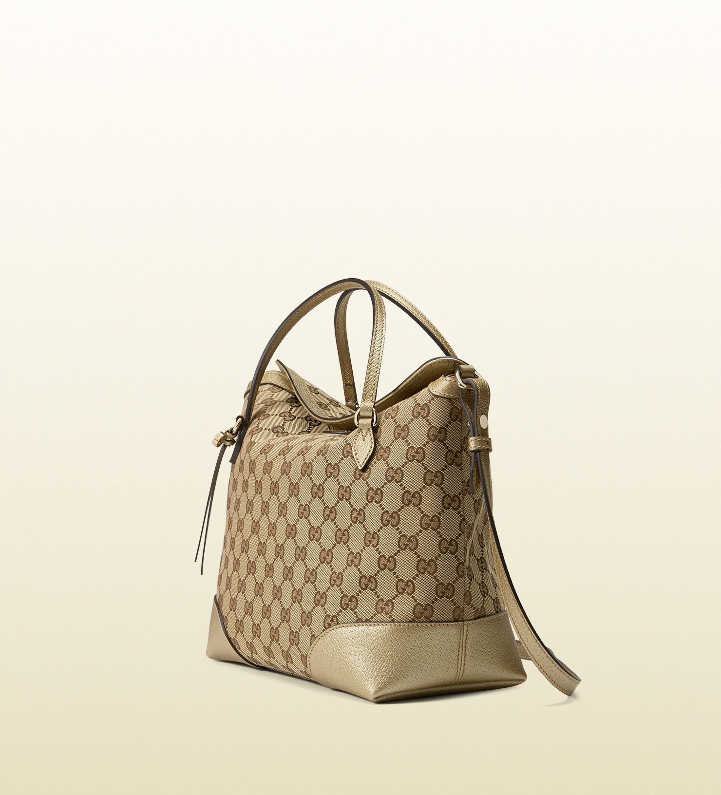 9f8ee3109e9 Lyst - Gucci Bree Original Gg Canvas Top Handle Bag in Natural
