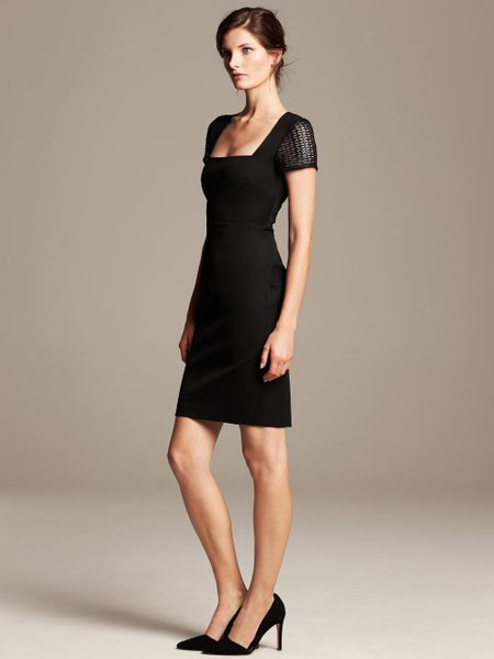 Banana Republic Roland Mouret Collection Lace Sleeve Dress