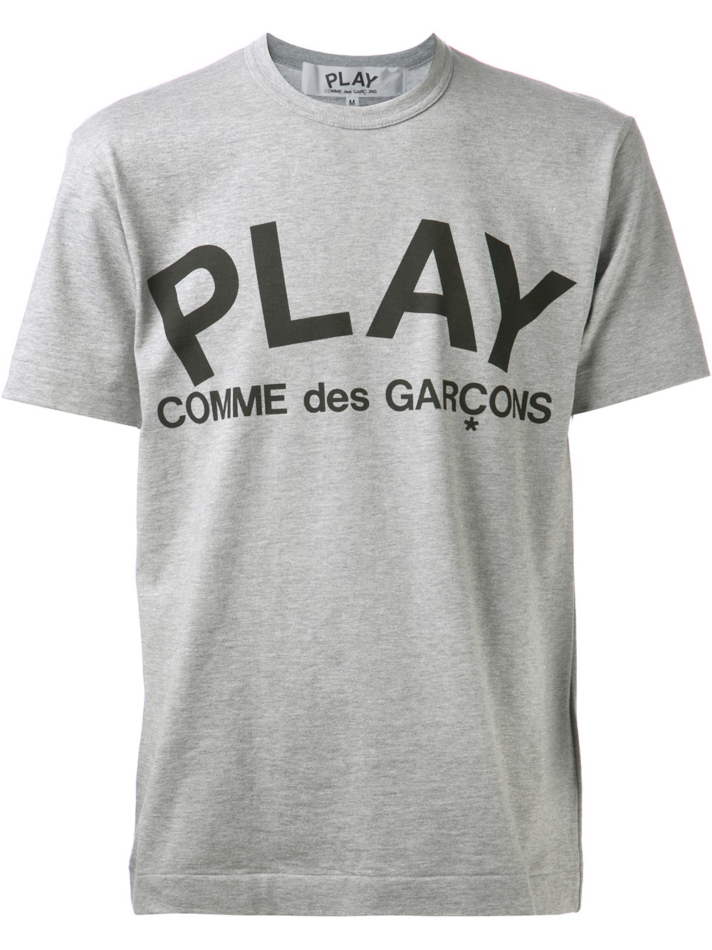 Play Comme Des Gar Ons Printed Logo T Shirt In Gray For