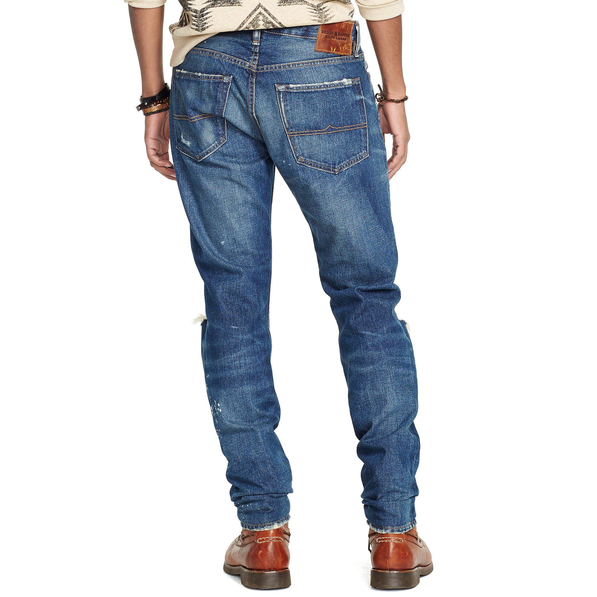 denim supply ralph lauren tapered straight dylan jean in blue for men lyst. Black Bedroom Furniture Sets. Home Design Ideas