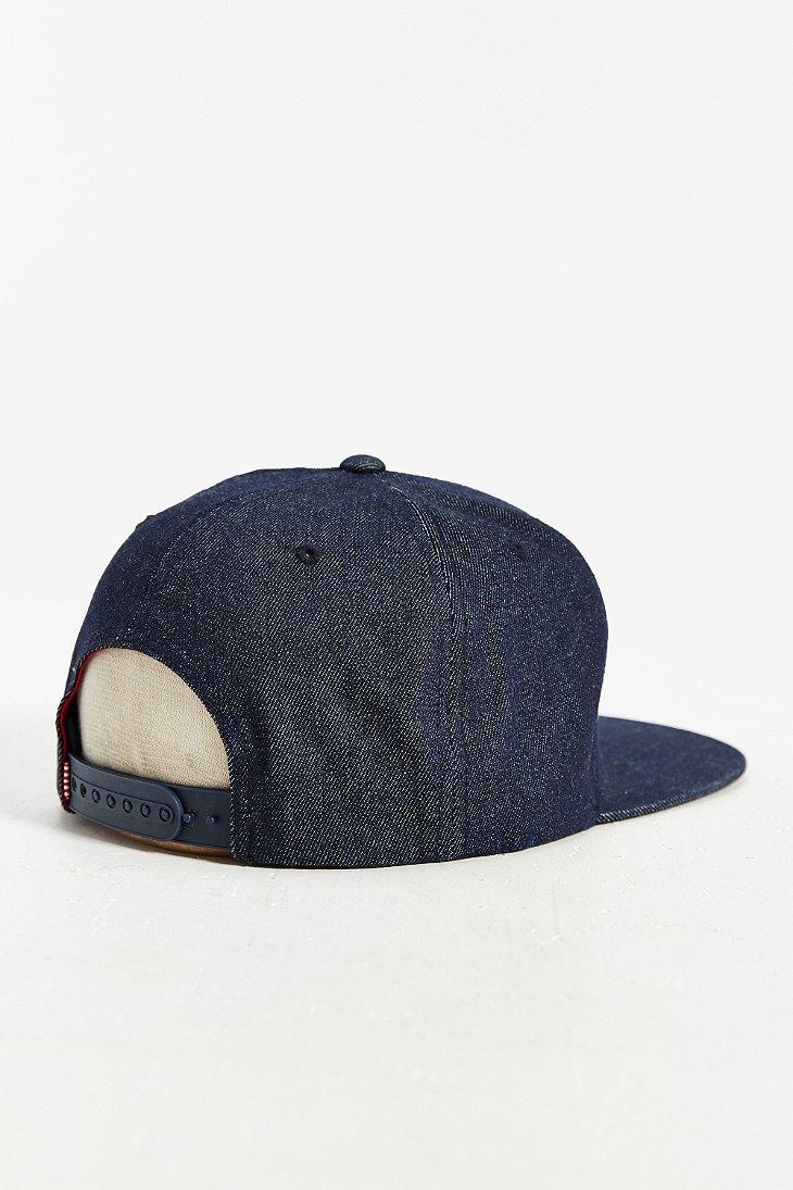 579239bb9cb ... sweden herschel supply co. toby h strapback hat in blue for men lyst  24ff1 1c8db