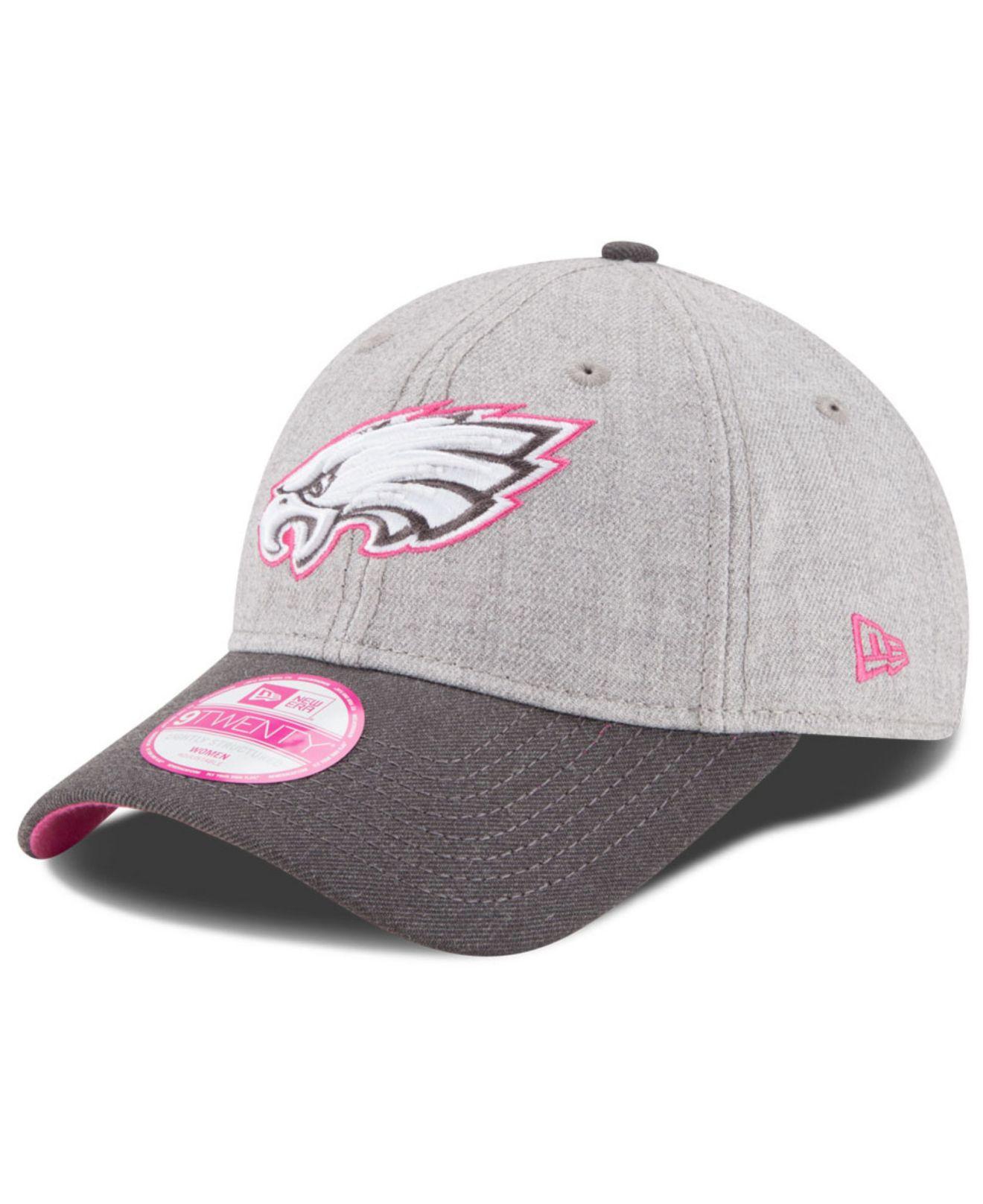purchase cheap b07ae fae18 ... promo code lyst ktz womens philadelphia eagles breast cancer awareness 9twenty  cap in gray e4e0a 0d9e2