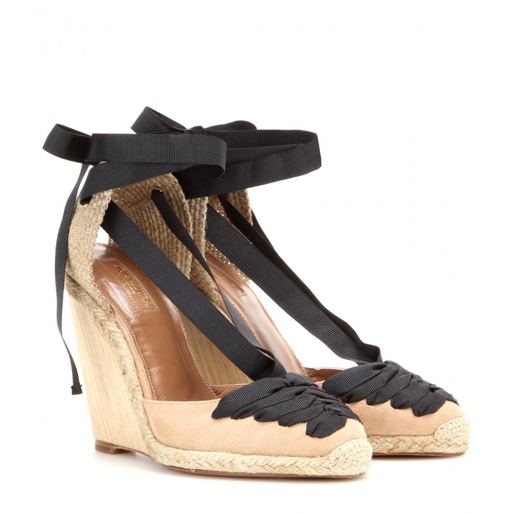 5bdd5aac0f5 Lyst - Aquazzura Mytheresa.Com Exclusive Malibu Wedge Espadrilles in ...