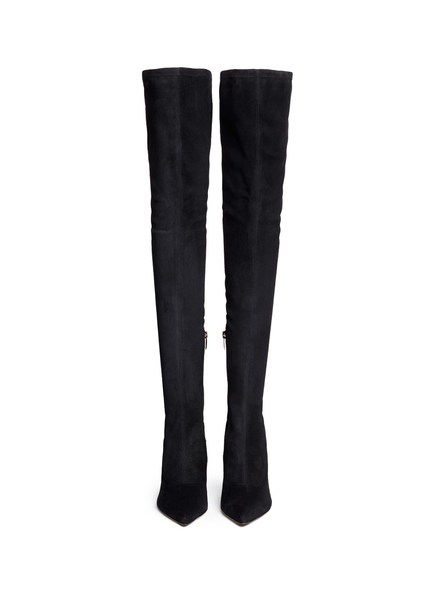 sergio suede thigh high boots in black lyst