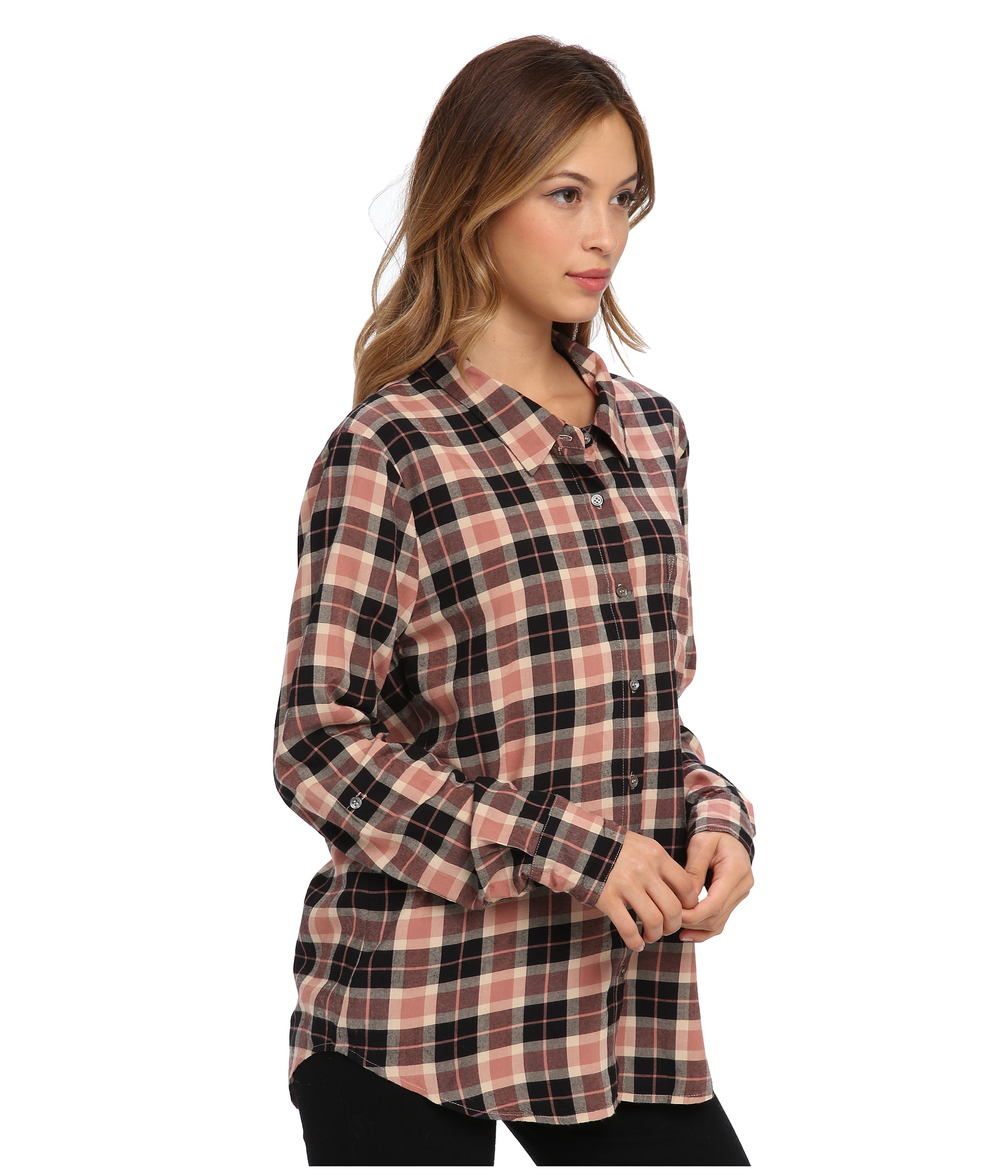 Joie anabella 5706 27430 in brown lyst for Soft joie plaid shirt