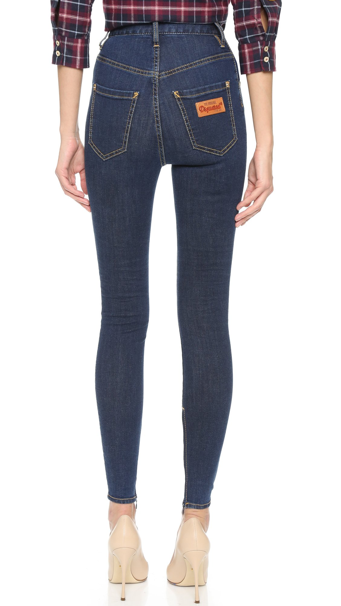 high waisted twiggy jeans - Blue Dsquared2 Discount Top Quality CdWnb