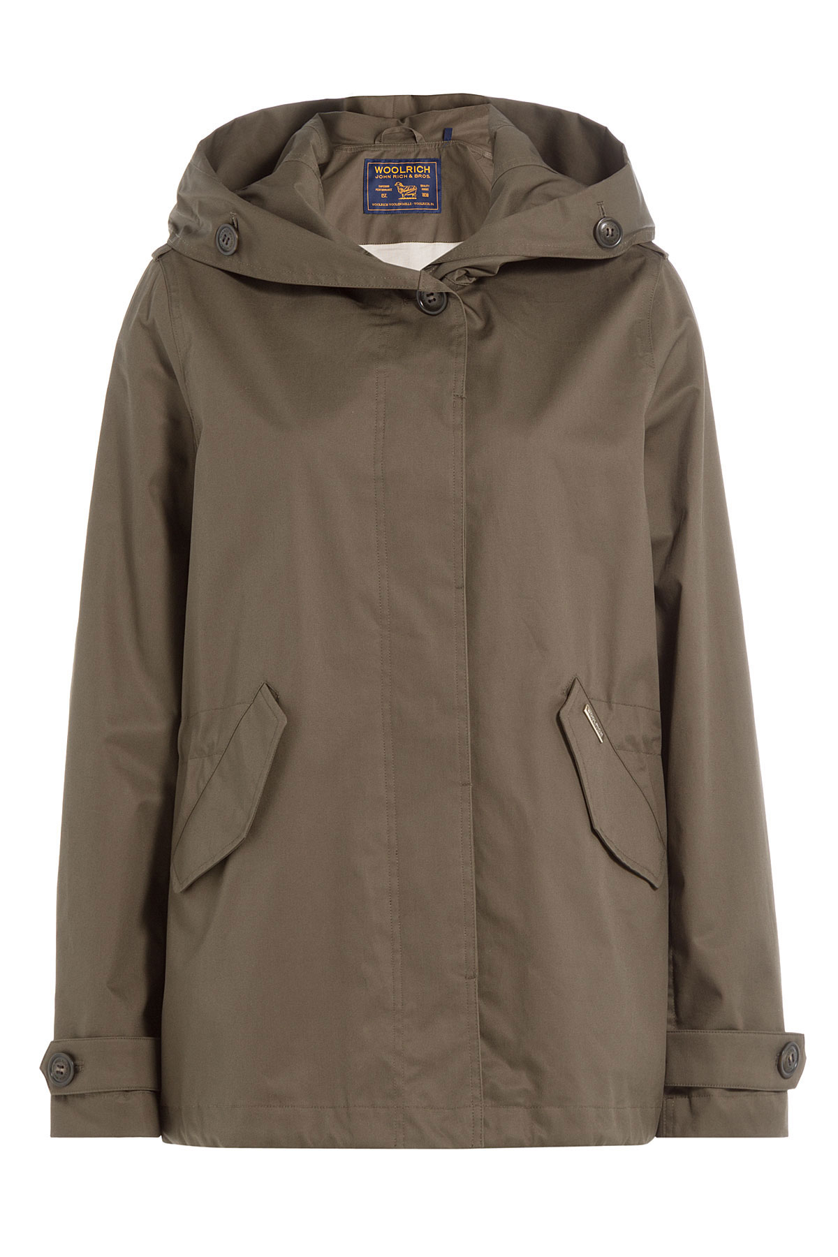 Woolrich Prescott Short Cotton Parka - Green in Green | Lyst