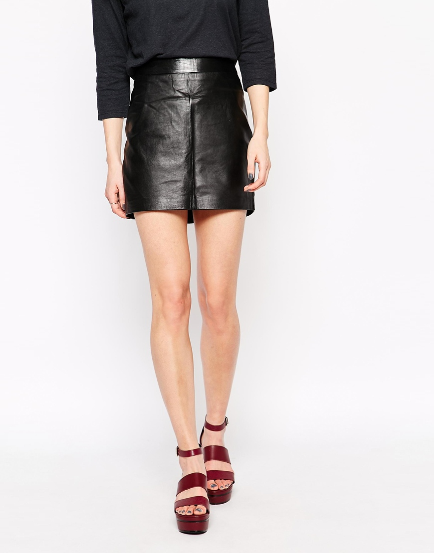 62923676 Gallery. Women's Black Leather Skirts ...