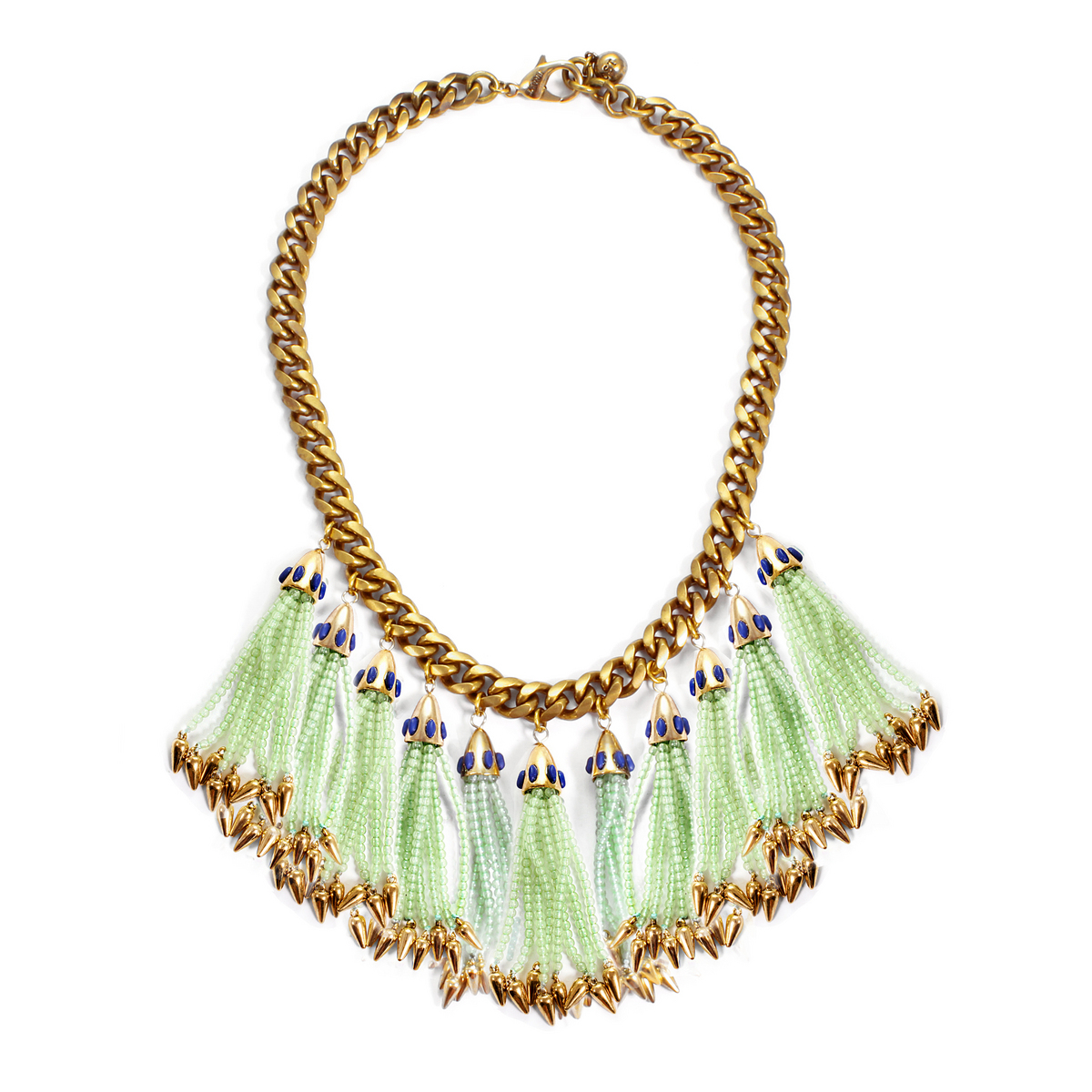 lulu nomadic statement necklace mint in green lyst