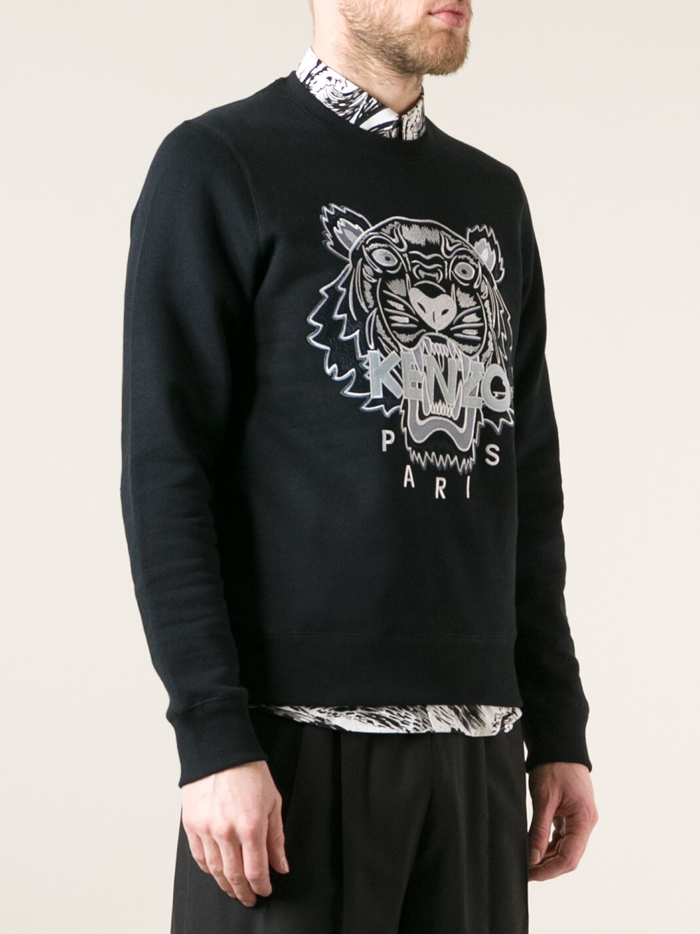 Kenzo Embroidered Wool-cotton Pullover