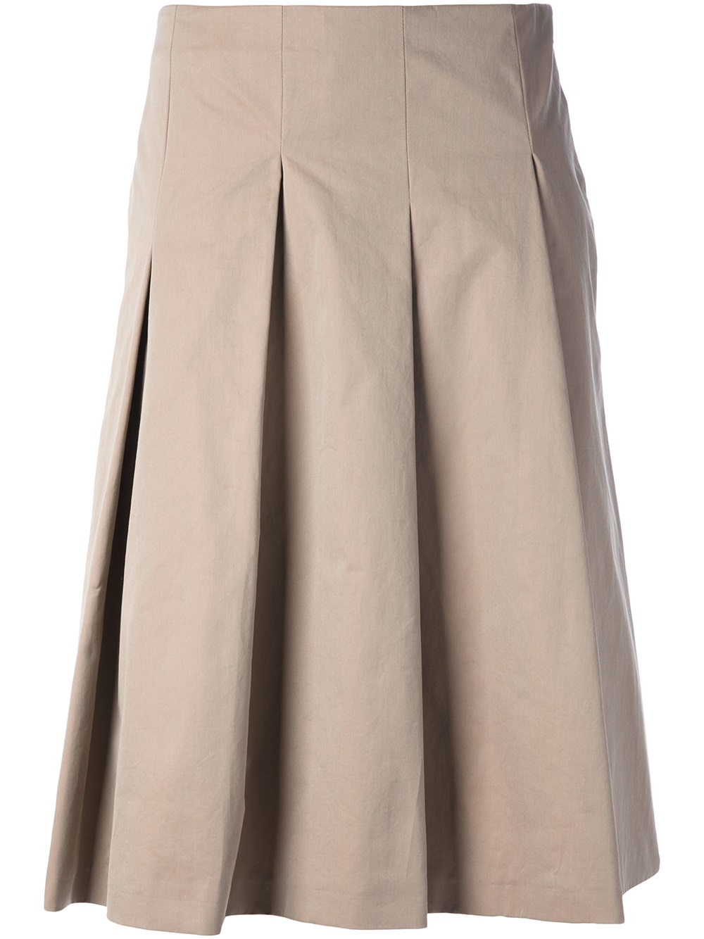 Lyst Max Mara Pleated Skirt In Natural