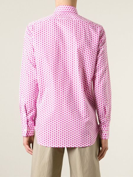 Blue Polka Dot Shirt Polka Dot Shirt in Pink