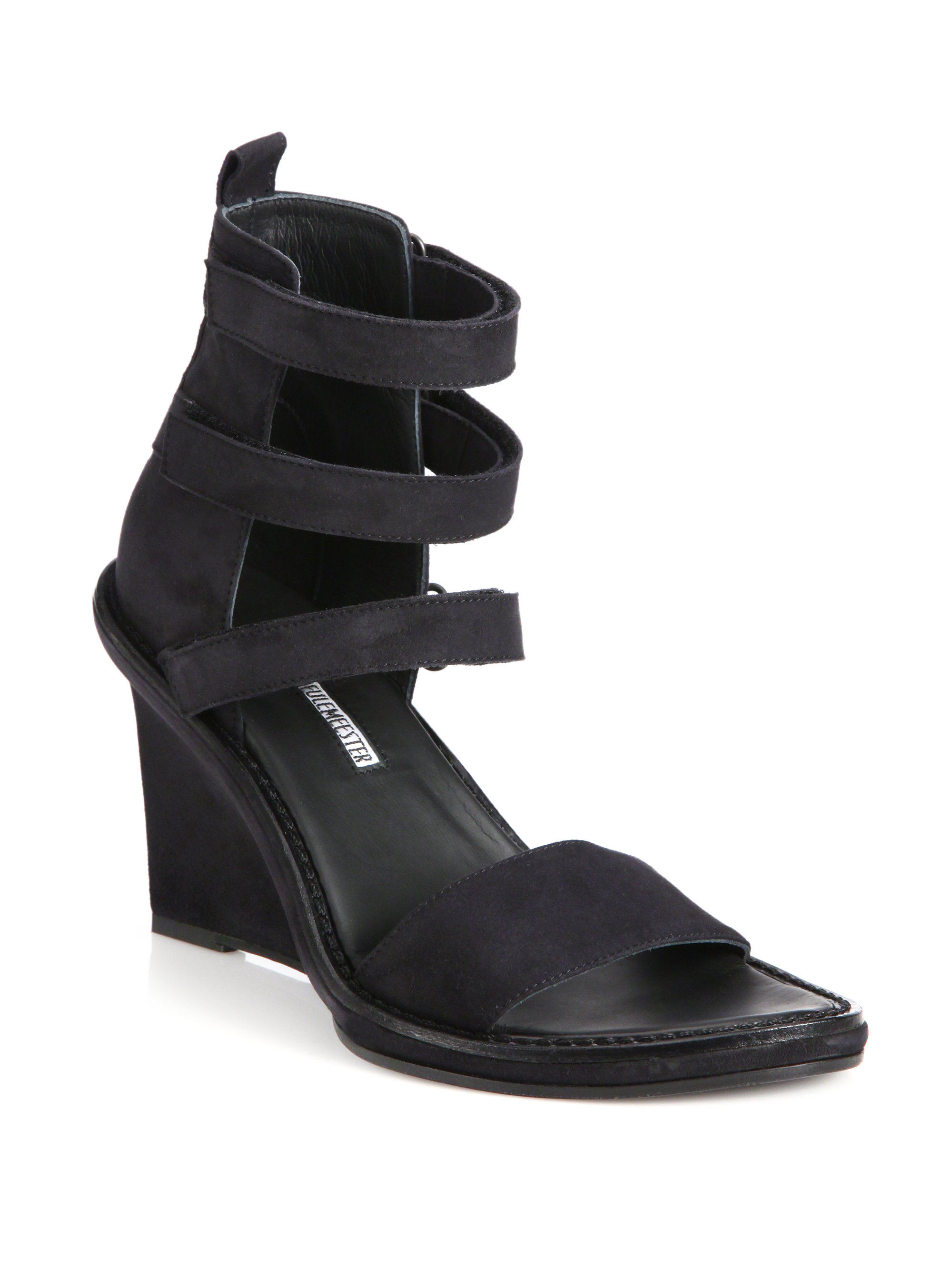 Ann Demeulemeester Suede Wedge Sandals fake for sale 5G0ahY3