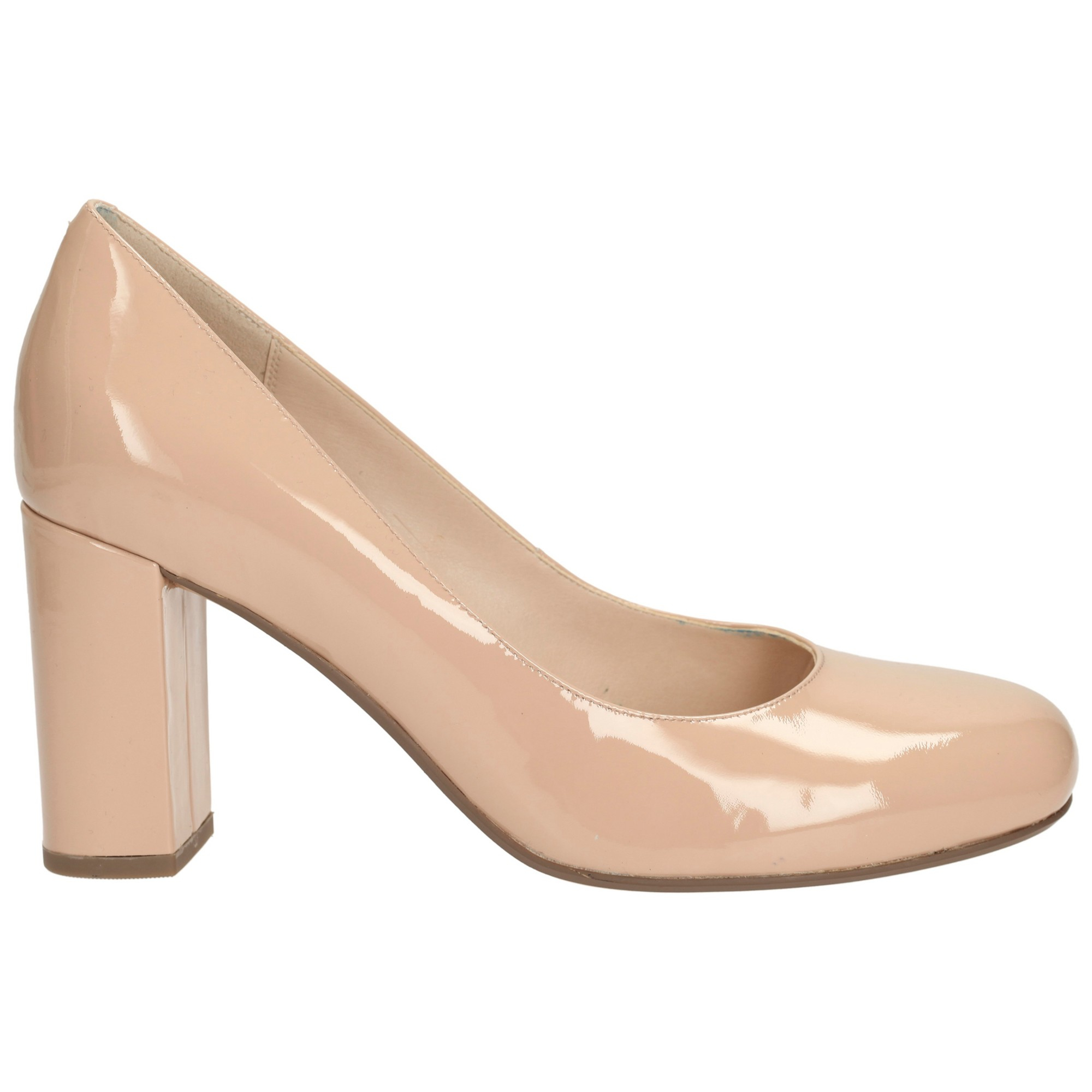 cadc043352349 Clarks Gabriel Mist Block Heel Court Shoes in Natural - Lyst