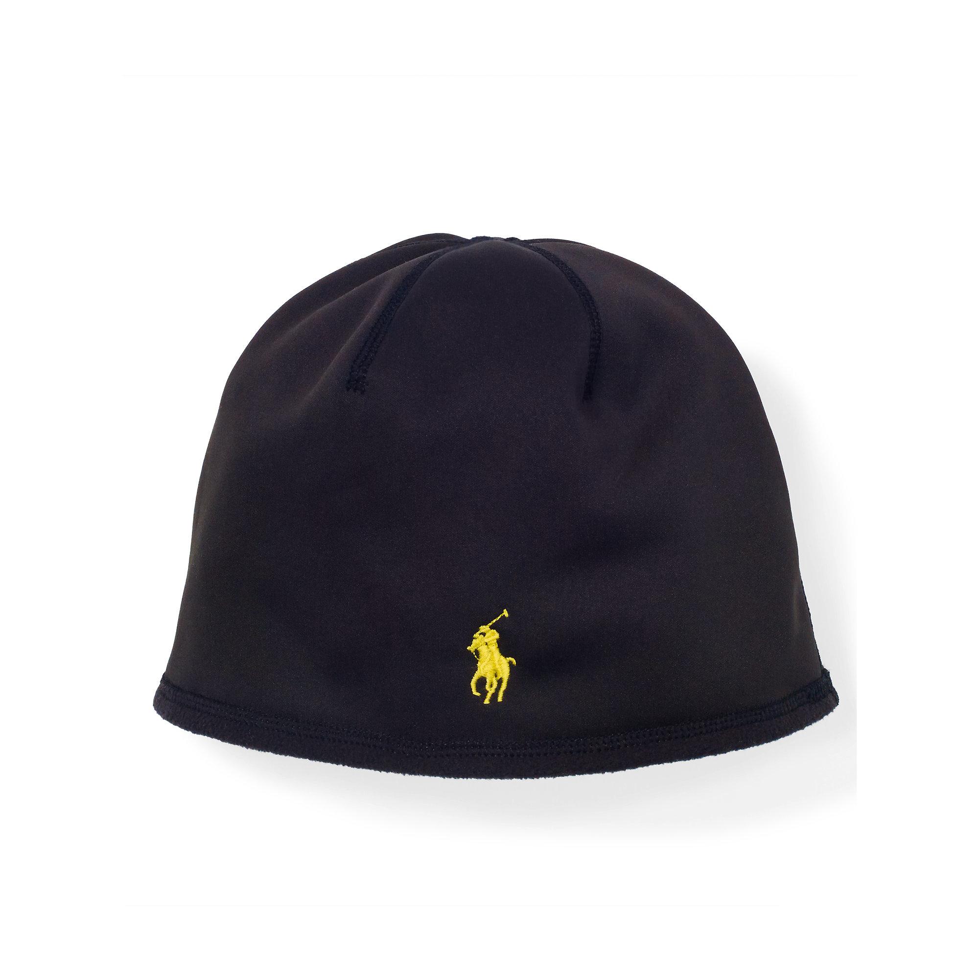 47dc81533f Polo Ralph Lauren Fleece Skull Cap in Black for Men - Lyst
