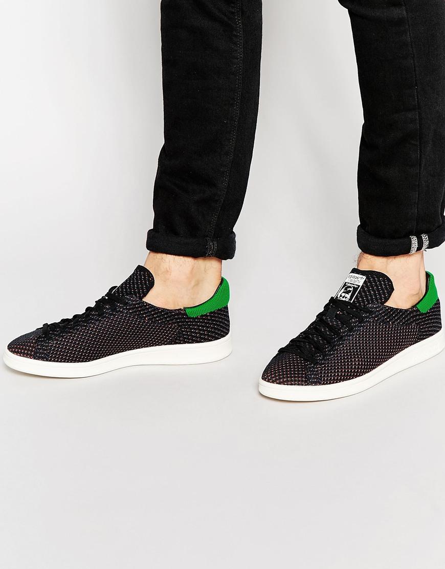 brand new 58ff2 45614 coupon adidas stan smith mens black green 9a777 b0706
