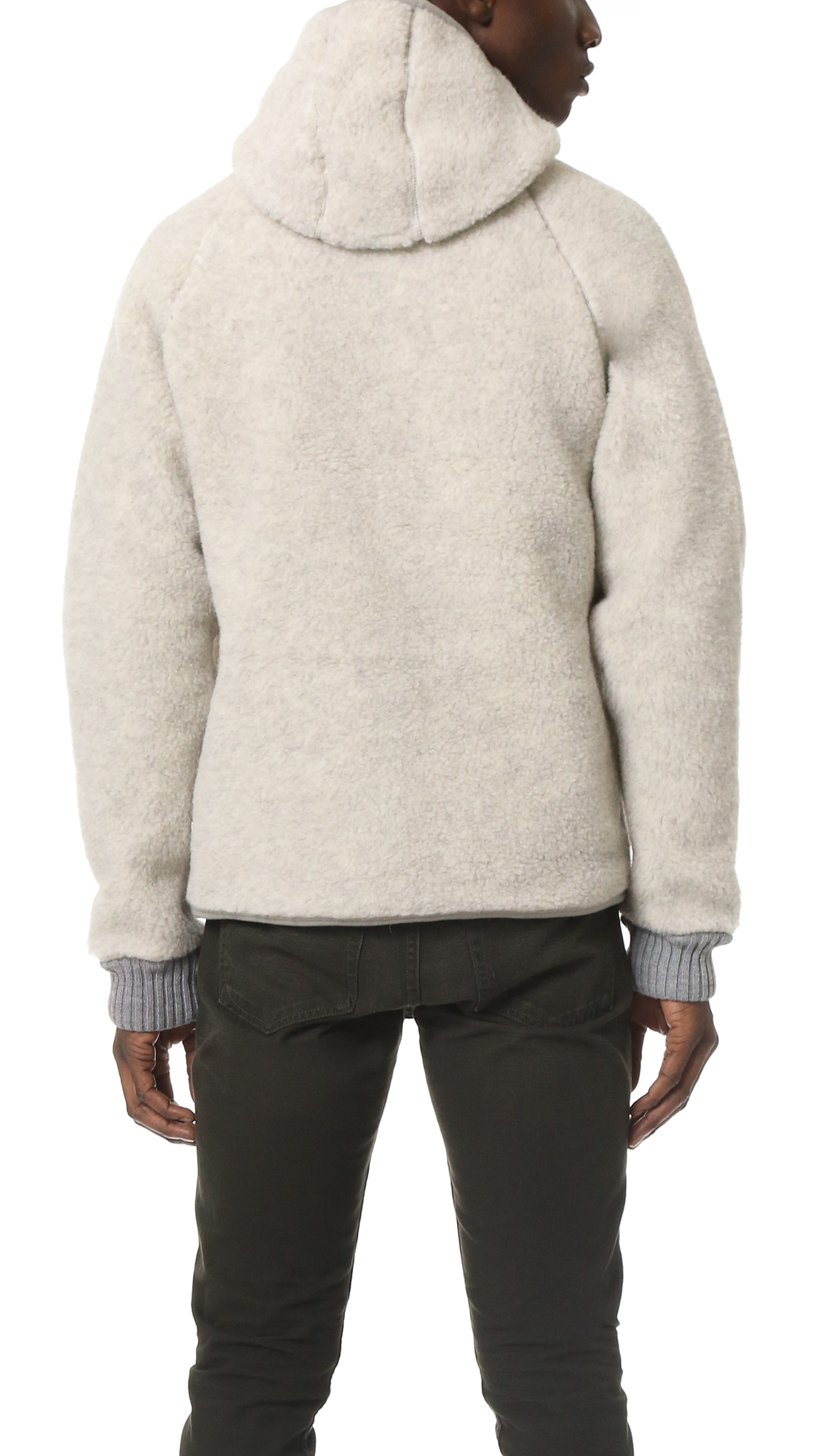 Snow peak Wool Fleece Pullover in Natural for Men | Lyst