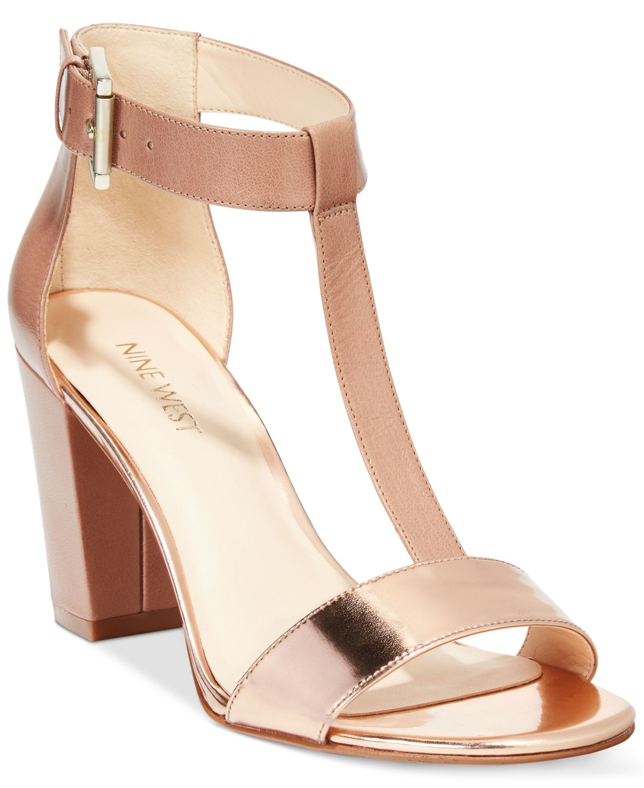 c6fc66a65daed1 Lyst - Nine West Brannah Dress Sandals in Pink