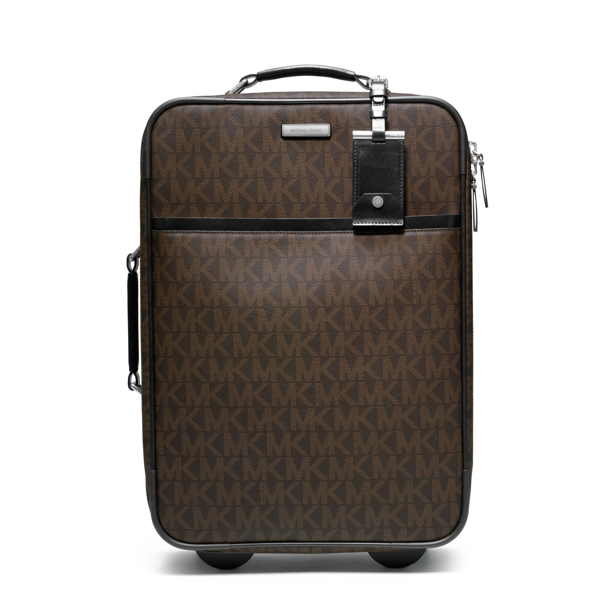 0b9302c66c72 Lyst - Michael Kors Jet Set Travel Logo Trolley Suitcase in Brown