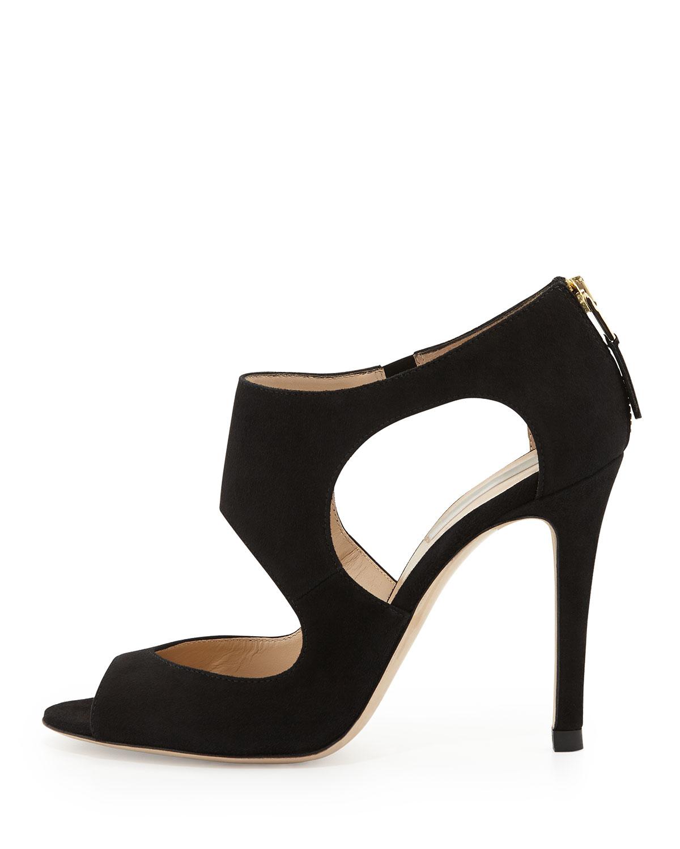 4e5196899c5 Lyst - L.K.Bennett Alma Suede Cutout Sandal in Black