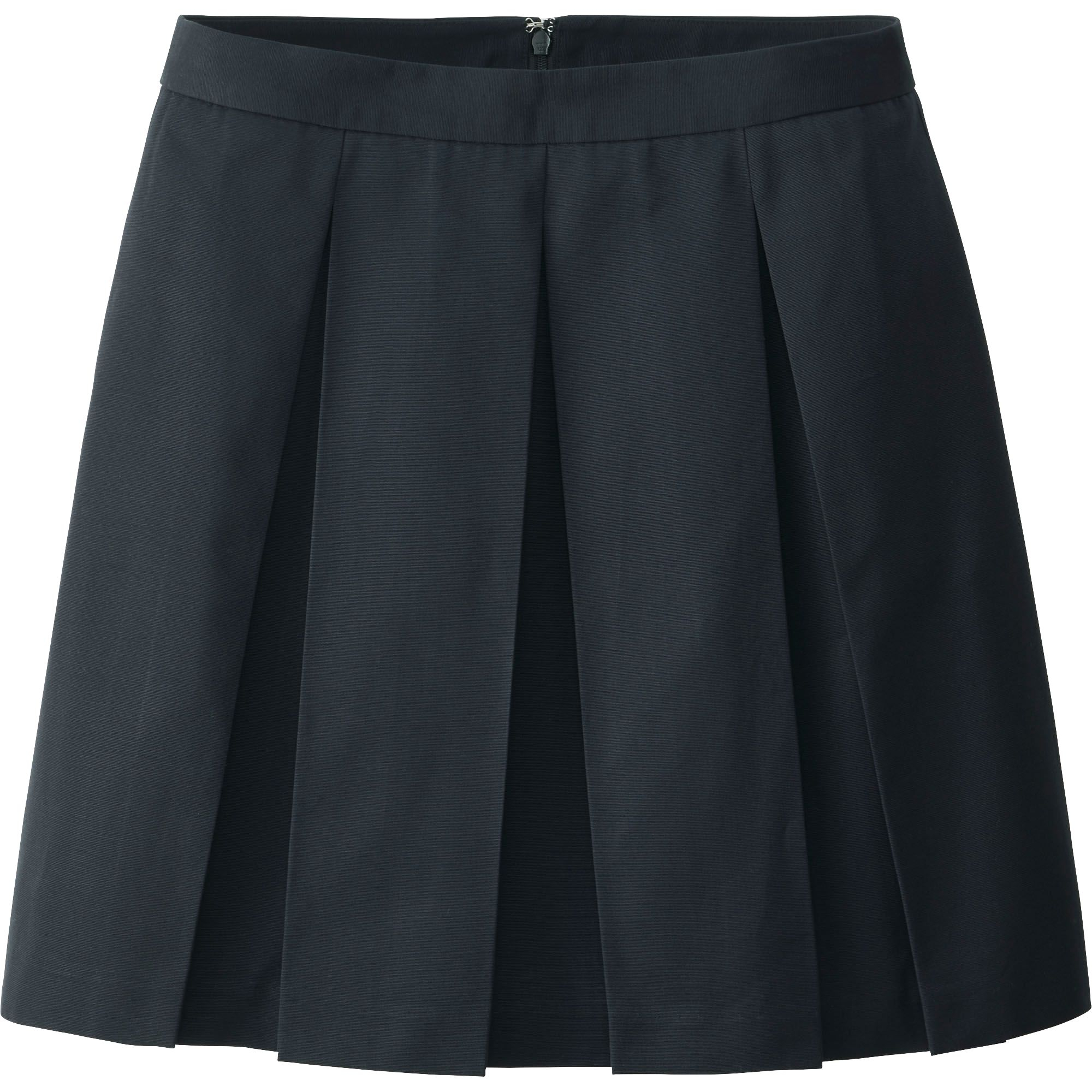 uniqlo blue pleated flare skirt lyst